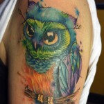 Sean Kotnik owl tattoo