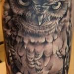 Owl tattoo realistic style