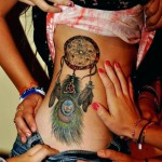 Dreamcatcher tattoo sexy design