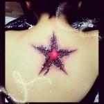 Kinki Ryusaki star tattoo