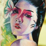 Geisha tattoo by Antonio Proietti