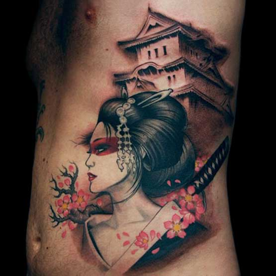 best japanese geisha tattoo design of tattoosdesign of tattoos. Black Bedroom Furniture Sets. Home Design Ideas