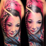 Carl Grace geisha tattoo design