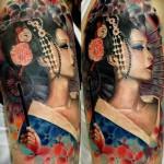 geisha tattoo Dzikson Wildstyle