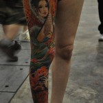 geisha tattoo on full leg
