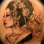 Geisha tattoo by Maggie Shields