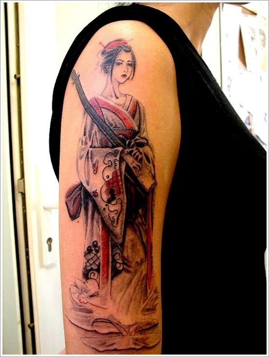 simple geisha tattoo design of tattoosdesign of tattoos. Black Bedroom Furniture Sets. Home Design Ideas
