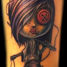 simple voodoo doll tattoo design
