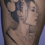 geisha tattoo in wonderful design