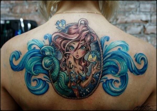 Little mermaid tattoo design of tattoosdesign of tattoos for Little mermaid tattoos