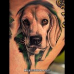 Beagle Tattoo by Khan Tattoo