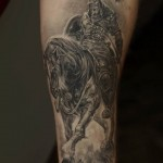 Horseman Warrior Tattoo by Dmitriy Samohin