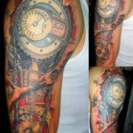 biomechanical tattoo on hand