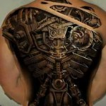 biomechanical tattoo full back