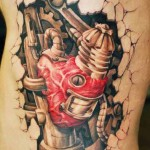 biomechanical tatto heart