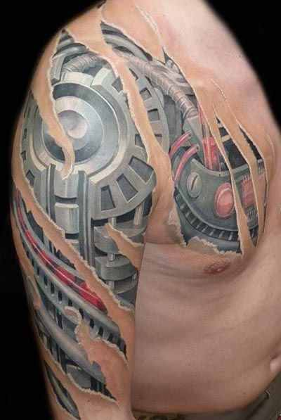 chest and arm biomechanical tattoo design of tattoosdesign of tattoos. Black Bedroom Furniture Sets. Home Design Ideas