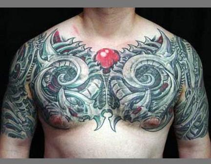 chest biomechanical tattoo design of tattoosdesign of tattoos. Black Bedroom Furniture Sets. Home Design Ideas
