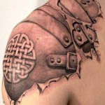 biomechanical tattoo creative design