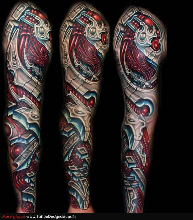 sleeves biomechanical tattoo design of tattoosdesign of tattoos. Black Bedroom Furniture Sets. Home Design Ideas