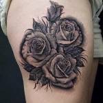 3d rose tattoo design