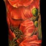 amazing poppy tattoo design