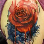 artistic rose tattoo design