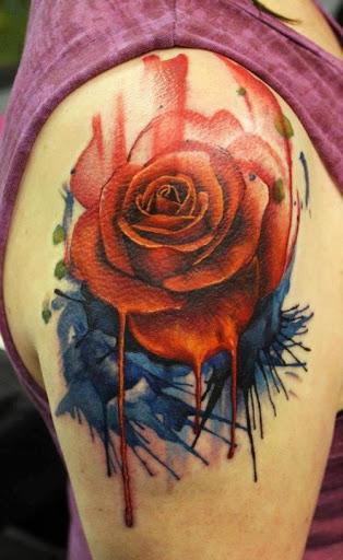artistic rose tattoo design