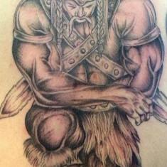 awesome warrior tattoo design