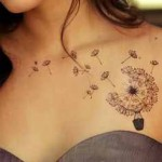 beautiful dandelion tattoo design