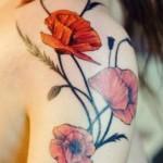 beautiful poppy tattoo design