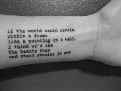 beautiful quote tattoo design