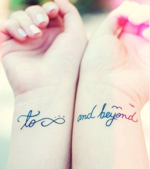 best friend infinity tattoo design of tattoosdesign of tattoos. Black Bedroom Furniture Sets. Home Design Ideas