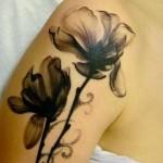 black poppy tattoo design