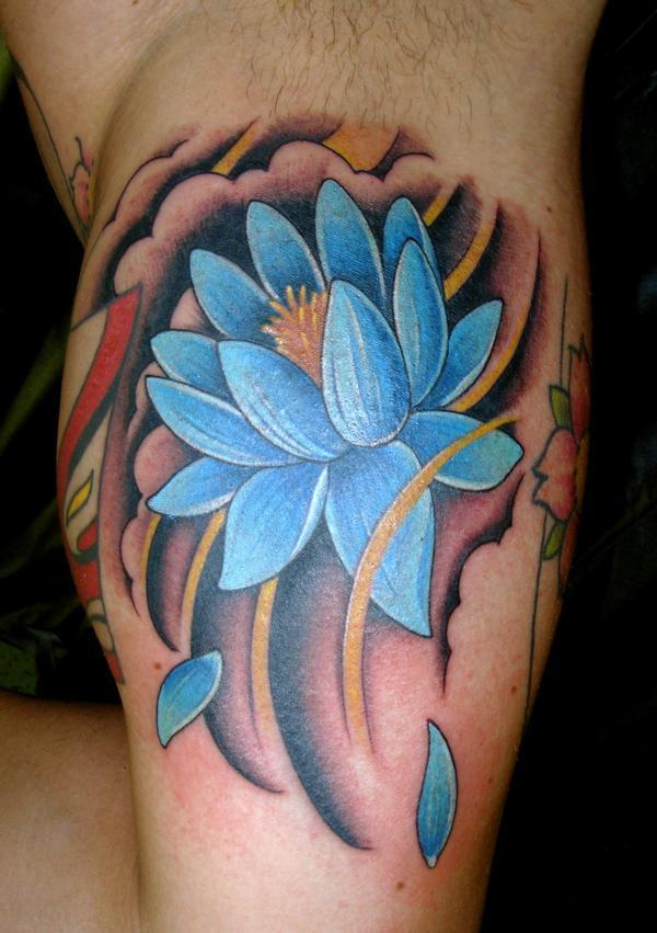 Blue lotus tattoo design design of tattoosdesign of tattoos blue lotus tattoo design mightylinksfo