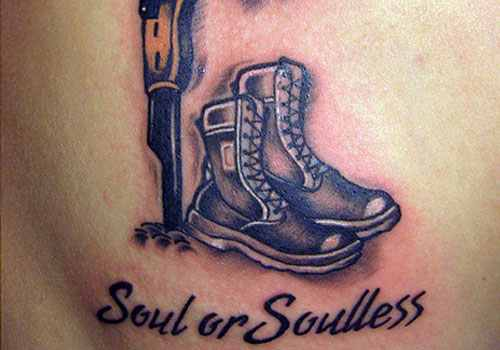 Boots And Helmet Military Tattoo Design Of Tattoosdesign Of Tattoos