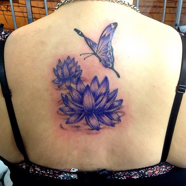 Butterfly and lotus tattoo design of tattoosdesign of for Lotus flower and butterfly tattoo designs