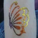 butterfly glitter tattoo design