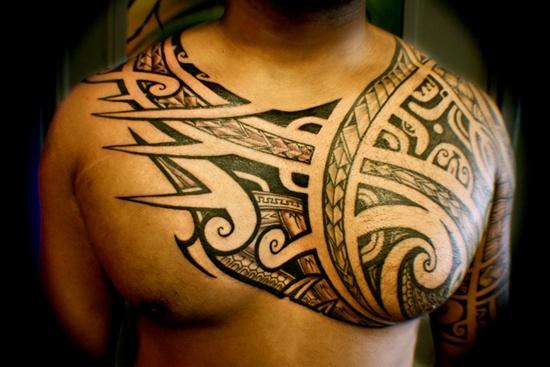 chest hawaiian tattoo design of tattoosdesign of tattoos. Black Bedroom Furniture Sets. Home Design Ideas