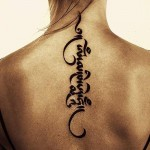 cool spine tattoo design for women