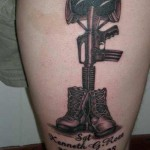 creative military tattoo design