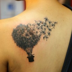 creative dandelion tattoo design