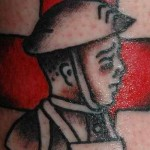 cute military tattoo design