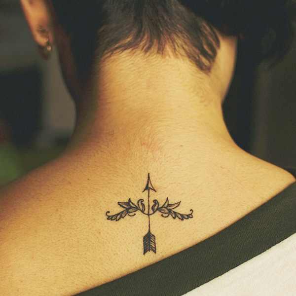 sagittarius tattoo on neck