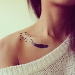 dreamy feather tattoo design