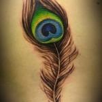 fabulous feather tattoo design