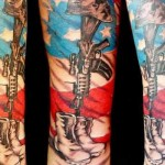 forearm military tattoo design