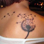 fullback dandelion tattoo design