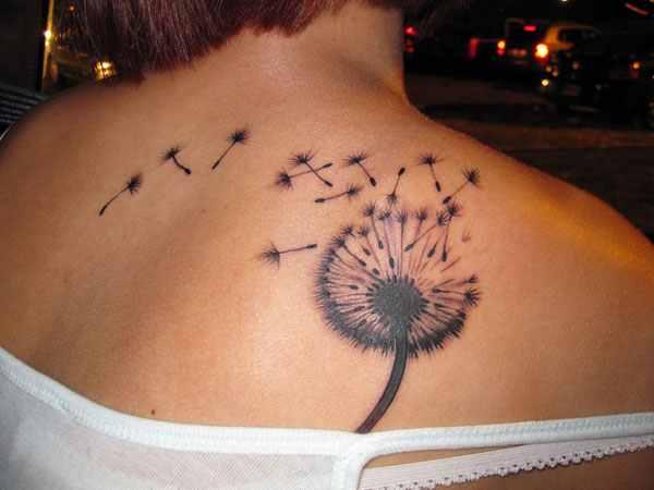fullback dandelion tattoo design