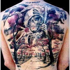 grim reaper tattoo on fullback