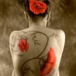 fullback poppy tattoo design